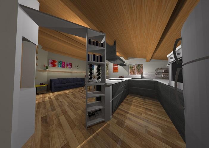 Da camera letto a cucina soggiorno beppe liotta - Progetto arredo cucina ...